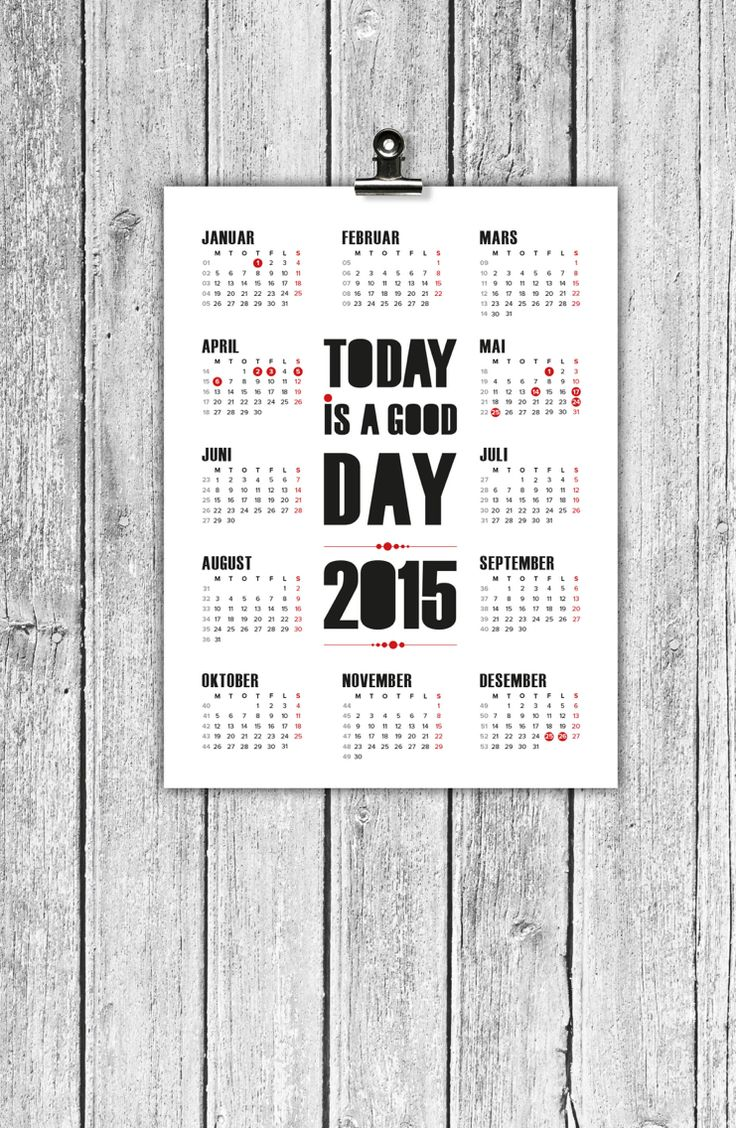 Calendar 2015 made by Designparken. Kalender.  og design by Designparken. Follow on instagram @designparken