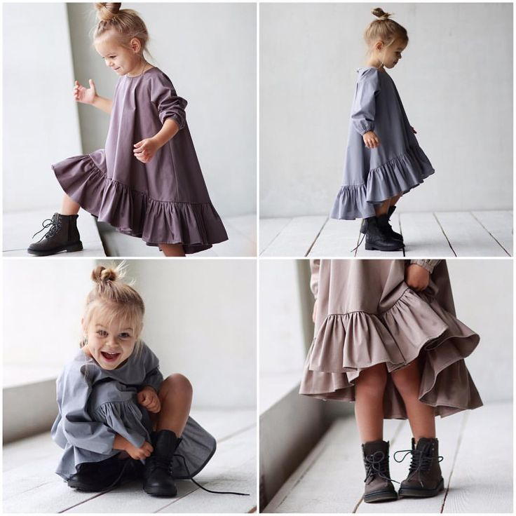 rustic linen girls ruffle dress