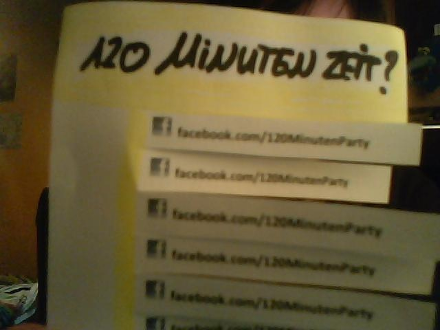 120 Minuten #Party    www.facebook.com/120MinutenParty