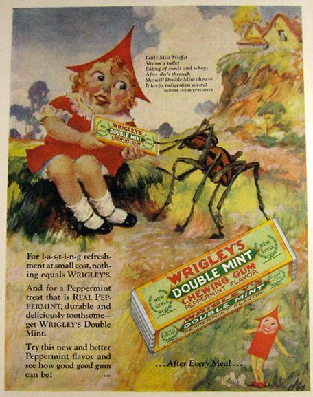 Doublemint Muffet in Wrigley's Gum ad, 1928