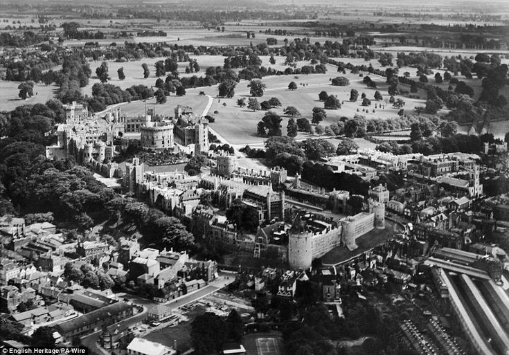 Majestic: The collection includes this aerial image of Windsor Castle, taken in August 1928