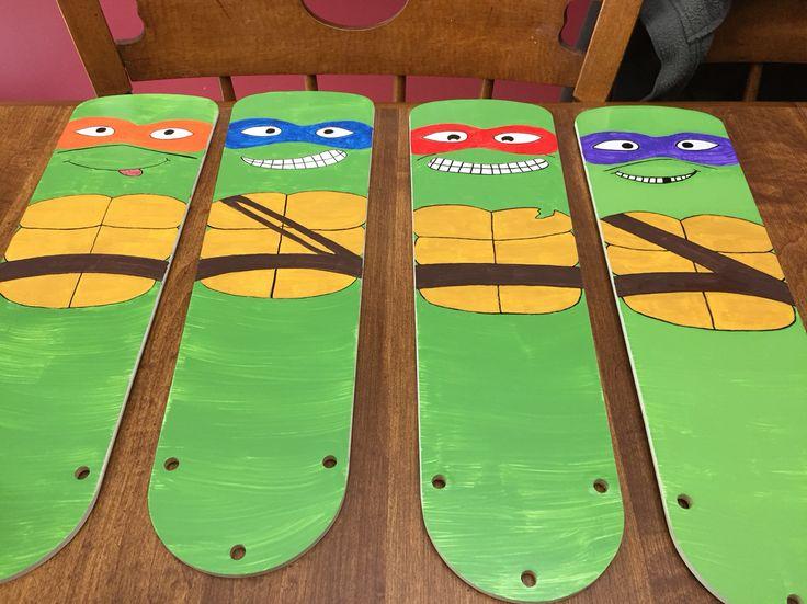 Teenage Mutant Ninja Turtle Fan Blades For The Baby Room :)