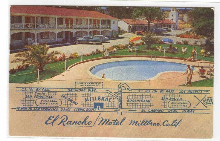 El Rancho Motel Millbrae California postcard | eBay