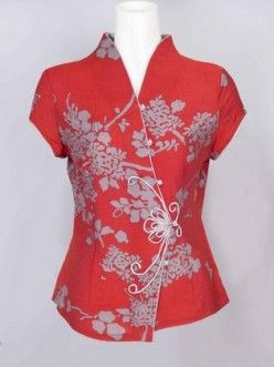 How To Sew Mandarin Collar - Chinese Neckline Piece On Blouse Shirt For Women