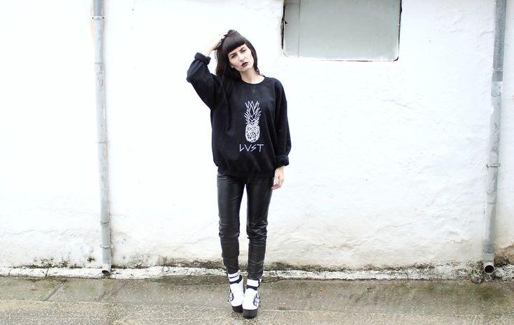 Nadia Is Dead Simon X Lust Sweatshirt Full post here: http://nadiaisdeadsimon.blogspot.gr/2015/10/lust.html