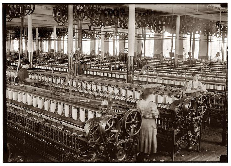 (1912, Jan.) Flint Cotton Mill spinning room - Fall River, Massachusetts
