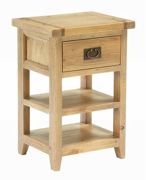Tall bedside table with drawers