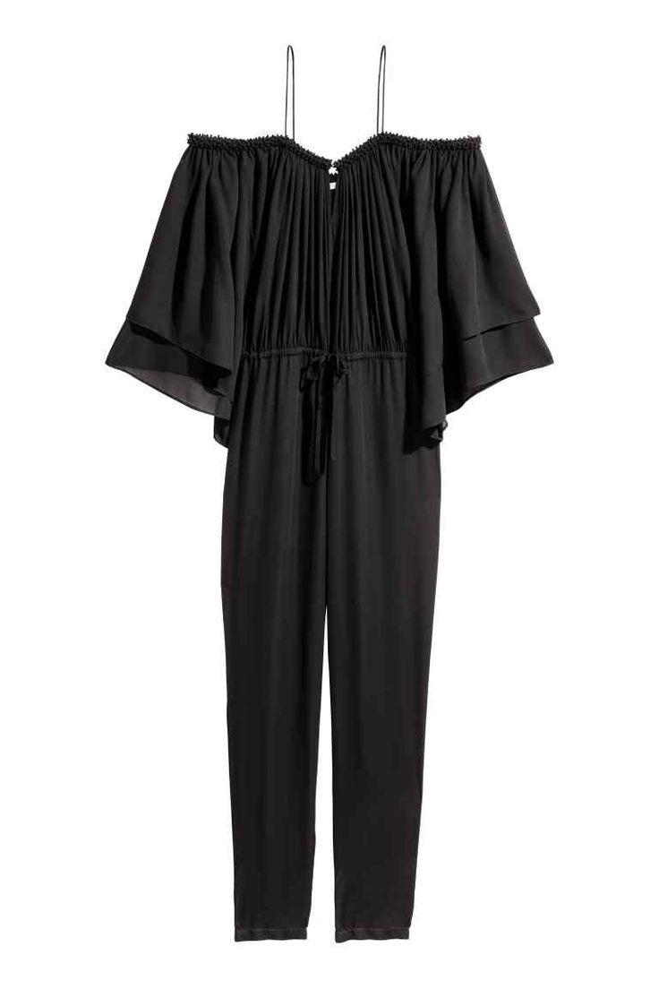 Cold shoulder jumpsuit - Black - Ladies   H&M GB