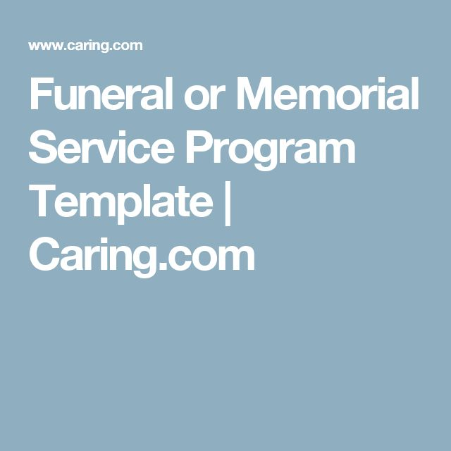 The 25+ best Memorial service program ideas on Pinterest Funeral - funeral service template word