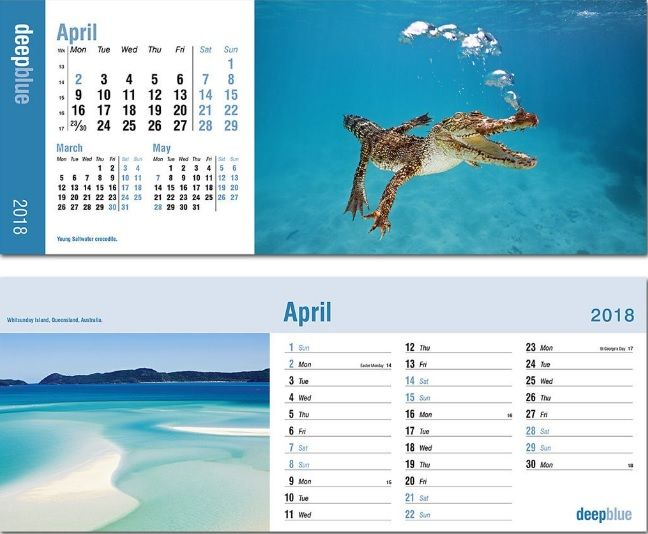 Amazing 2018 April Desk Calendars