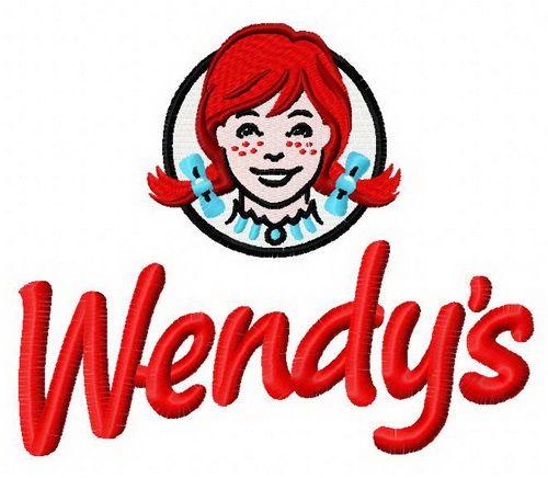 Wendy's logo machine embroidery design. Machine embroidery design. www.embroideres.com