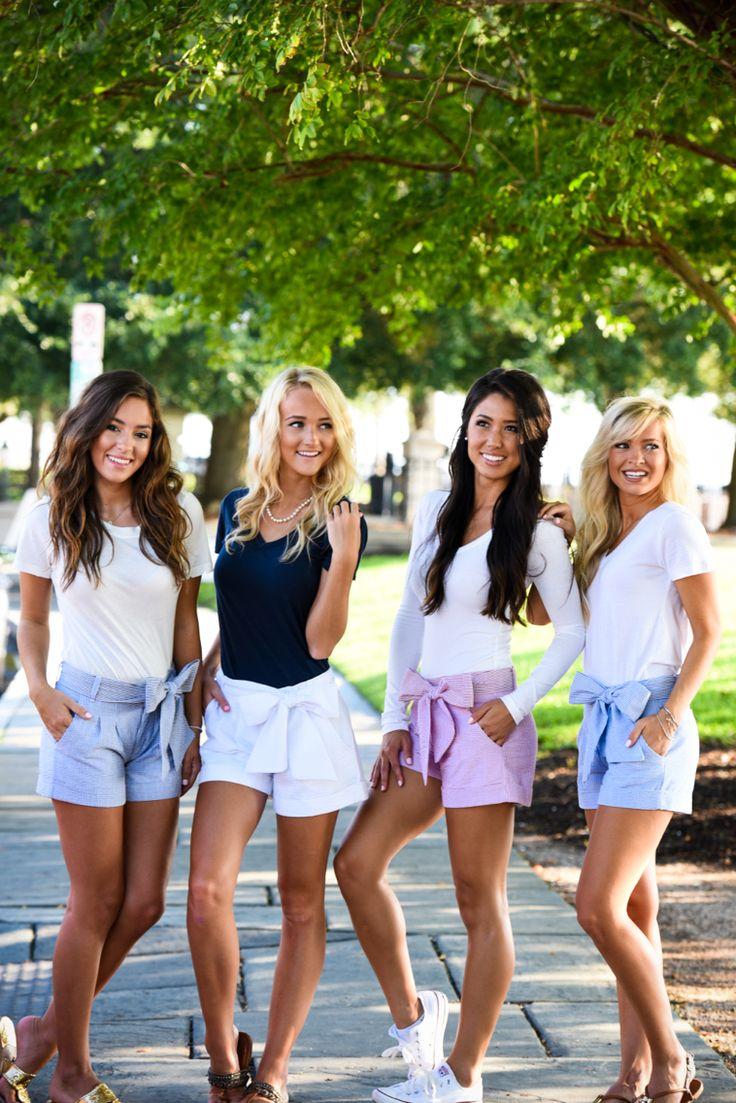 Welcome to our bow short posse! #laurenjames #lifeisbetterinlj