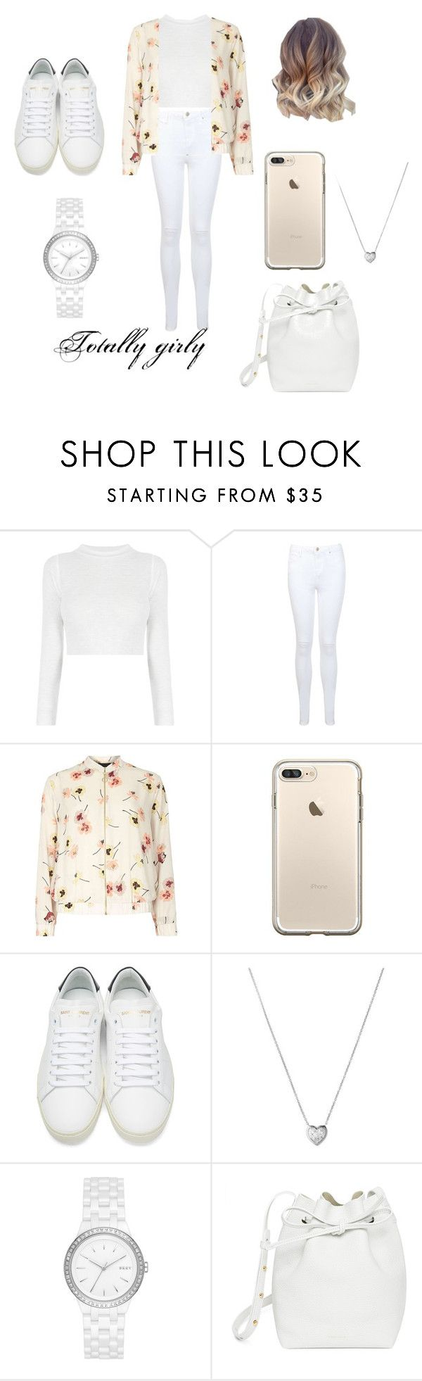 """""""Totally Girly"""" by idman-123 on Polyvore featuring Miss Selfridge, Dorothy Perkins, Yves Saint Laurent, Links of London, DKNY and Mansur Gavriel"""