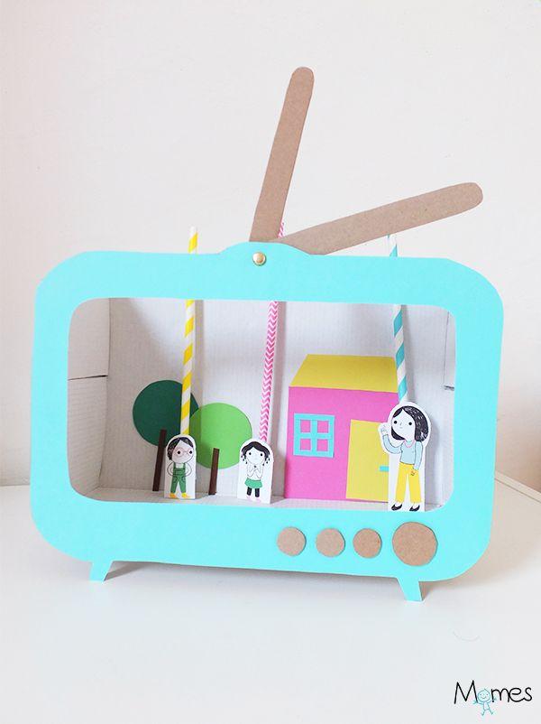 Télé Marionnettes ! Un mini théâtre de marionnettes en papier à fabriquer !