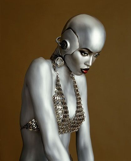 Naomi Campbell in a flawless bald cap.
