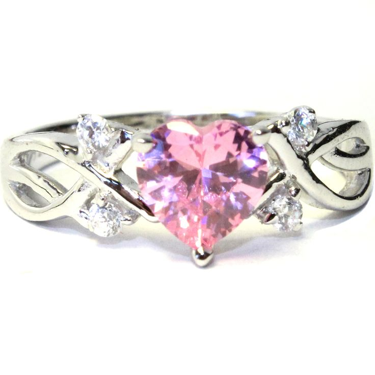 for cubic ring shaped best beautiful rings promise of pink girlfriend zirconia heart