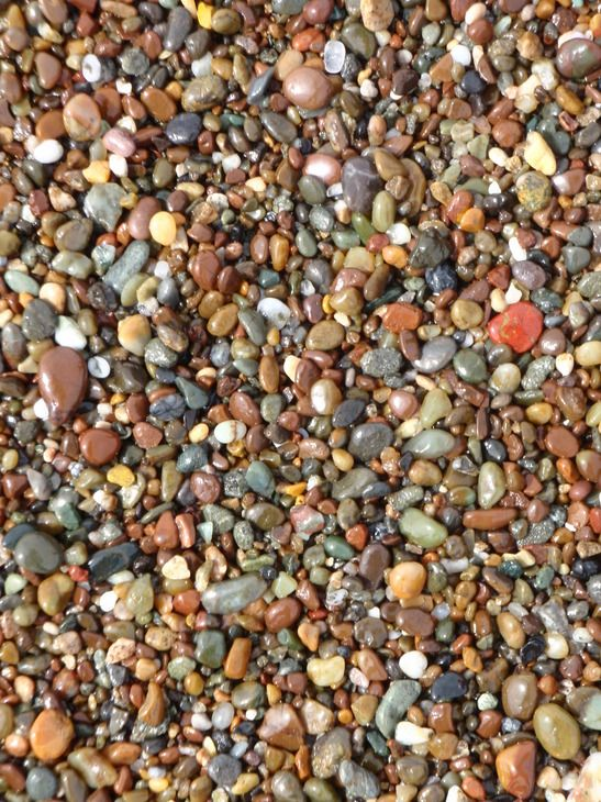 Cambria, CA : Who needs sand with pebbles like this - Moonstone Beach, Cambria, CA