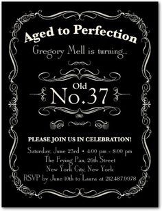 Adult Birthday Party Invitations Postcard Aged To Perfection By Tiny Prints