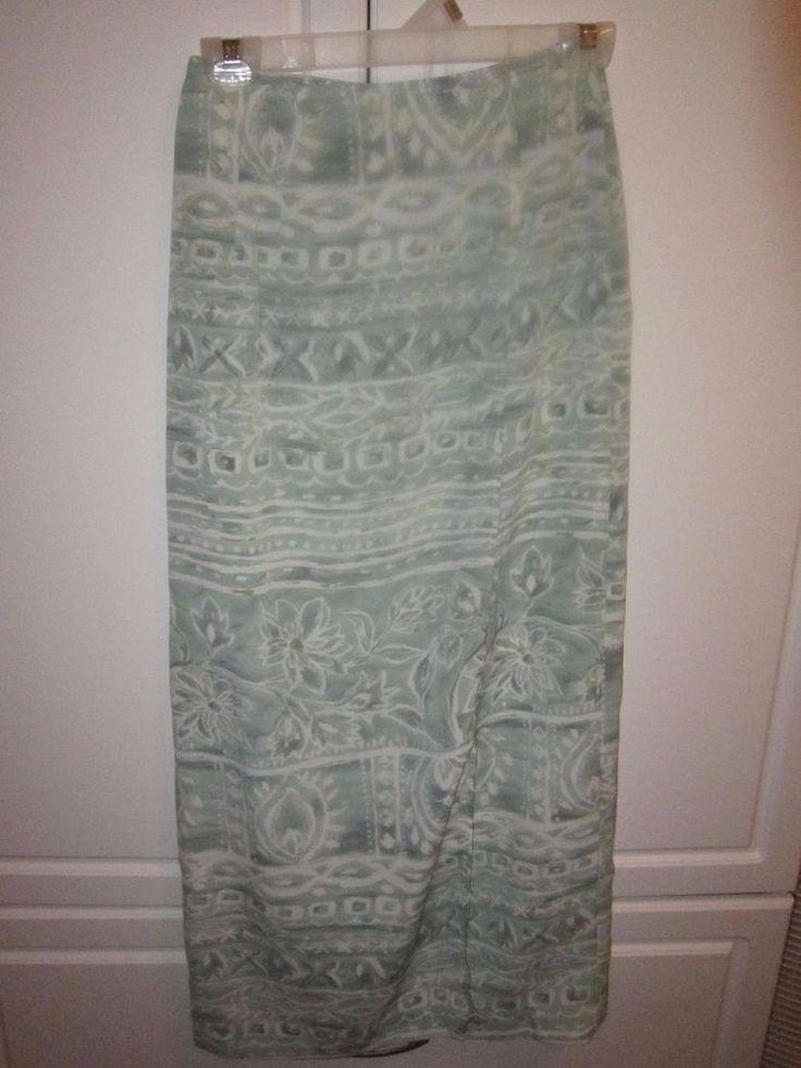 NWOT Women's Express Mint& White  Floral Maxi Skirt Size XS #Express #Maxi