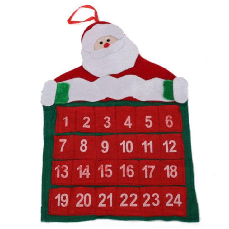 Купить товарНовый Дед Мороз Обратного Отсчета Xmas Декор Ткань Дед Мороз…