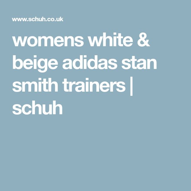 womens white & beige adidas stan smith trainers | schuh