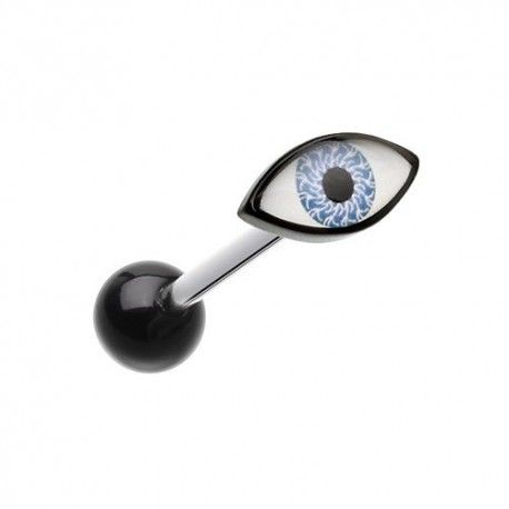 Piercing Langue Titane oeil bleu https://piercing-pure.fr/p/106-piercing-langue-titane-oeil-bleu.html #piercing #oeil #piercingtitane