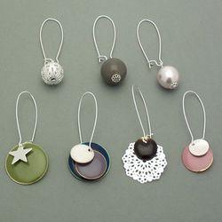Kits Bijoux - Boucles d'oreilles Créativa couleur argent
