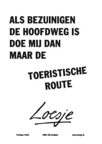 Als bezuinigen de hoofdweg is #Loesje