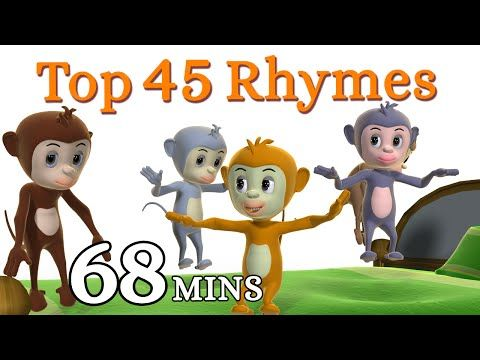 Five Little Monkeys Jumping On The Bed Nursery Rhyme - Kids Songs - 3D English Rhymes for Children - YouTube