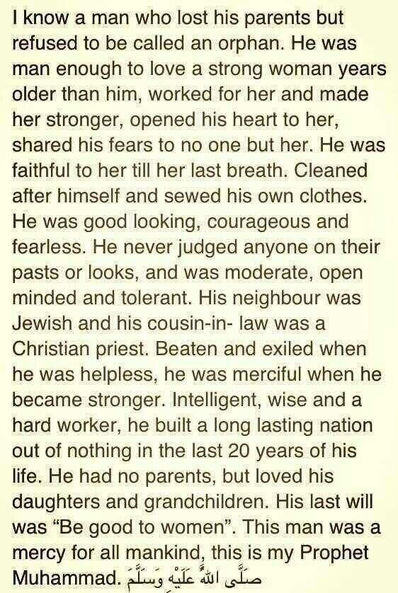 This is my prophet Muhammed (PBUH)