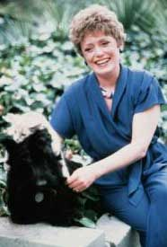 Rue McClanahan and her Scottie Harrod
