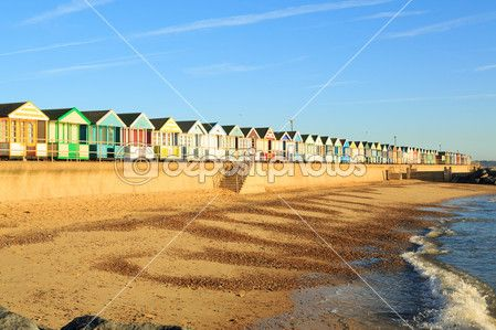 pláž chaty, southwold suffolk, Anglie — Stock obrázek #33289921