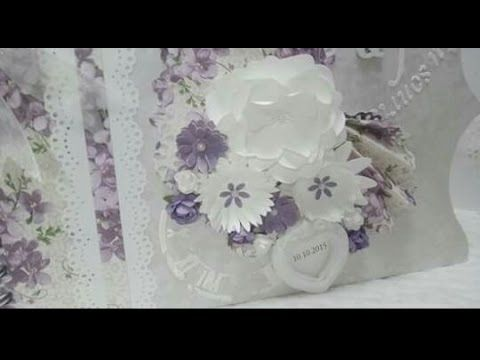 flores para scrapbooking - YouTube