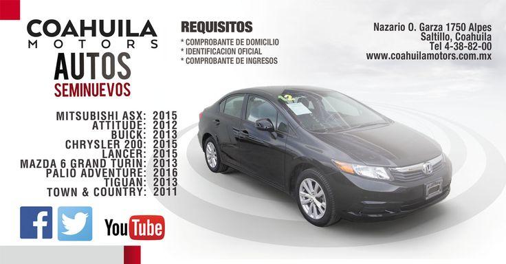 Consulta nuestra gama de vehiculos seminuevos.http://bit.ly/2gpN0Bf