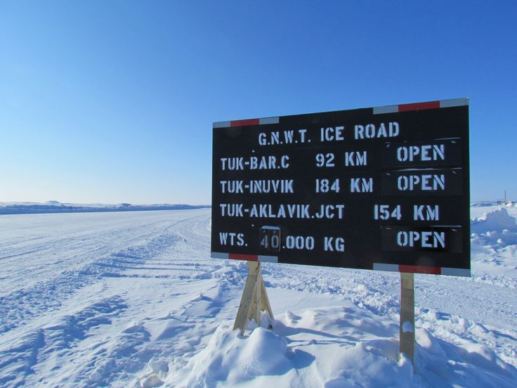 Ice Road sign
