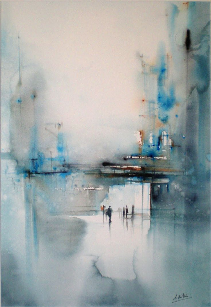 """Entre Acero y Cristal"" by Aitor Renteria - Acuarela sobre papel, 90 x 60 cm  http://aitor-renteria.blogspot.com.es/2011/06/bienal-de-acuarela-del-ateneo.html #watercolors #painting"