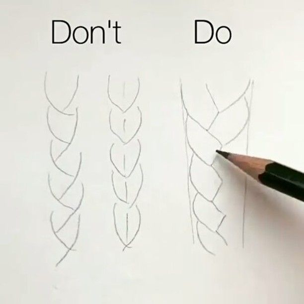 "(@arts_secret) en Instagram: ""How to draw braids B…"