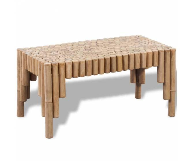 Optez Pour Cette Table Basse En Bambou Avec Son Design Simple Avec Son Cote Tropiques Pour Un Effet Decoratif O Roulette Pour Meuble Table Basse Meuble Bambou