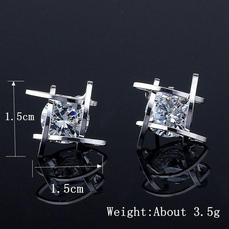 Luxury Creativity Earrings Four Hollow Circle Rhinestone Women Earrings online - NewChic