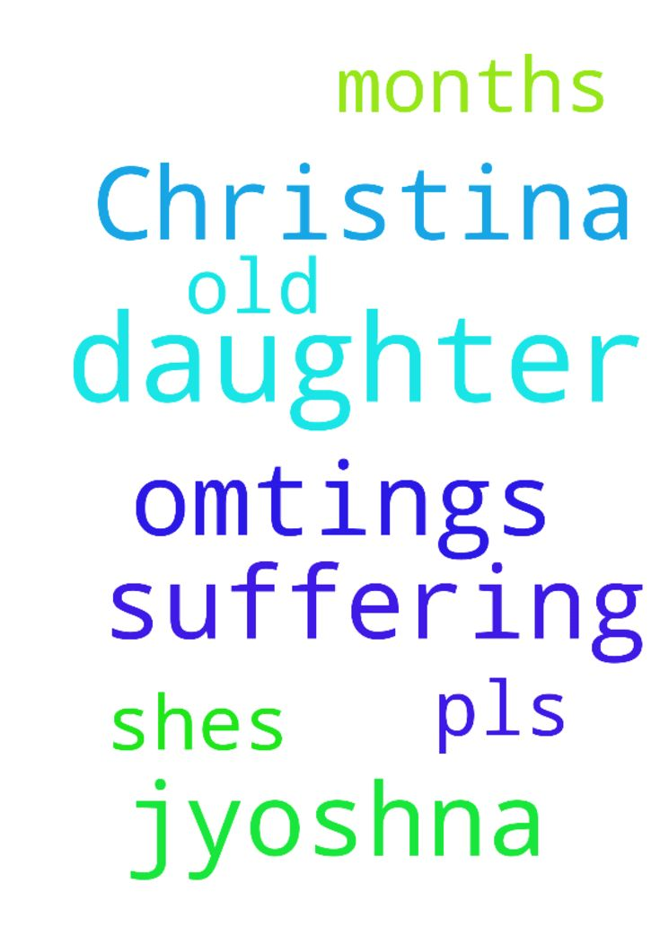 Am Jyoshna my daughter Christina suffering with omtings - Am Jyoshna my daughter Christina suffering with omtings , shes just 10 months old pls pray for my daughter... Posted at: https://prayerrequest.com/t/Kge #pray #prayer #request #prayerrequest