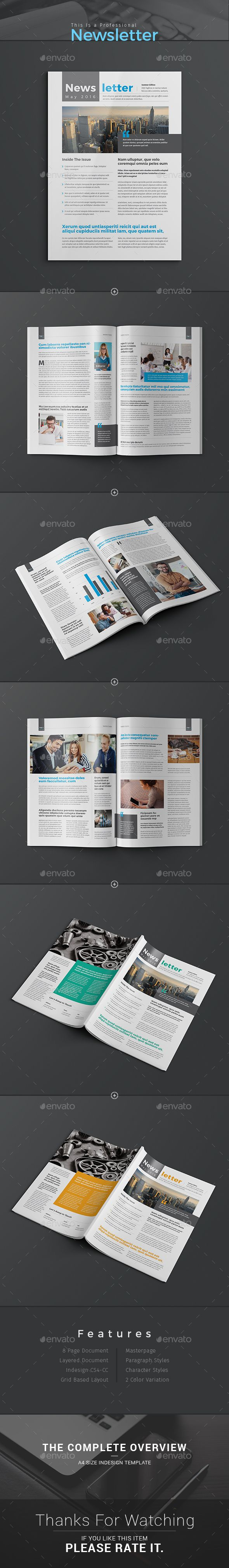 8 page InDesign Company / Business Newsletter Template; Ready to use for Business Newsletter, Company Newsletter, Corporate Newsletter, Organization newsletter, institutions or Multipurpose Newsletter. http://graphicriver.net/item/newsletter-template/15418299?ref=themedevisers
