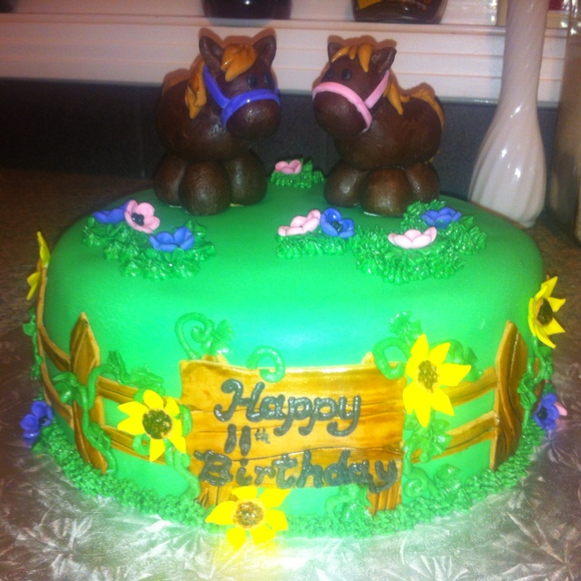 Year Old Twin Birthday Cakes