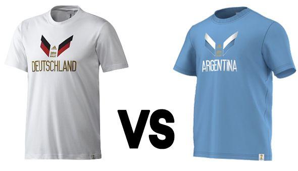 Brazil vs. Argentina #worldcup #soccer #fanshirts
