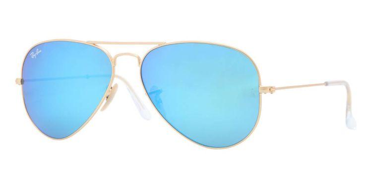 Ray-Ban aviator zonnebril met blauw gespiegelde glazen voor maar 119 euro! www.fuva.nl