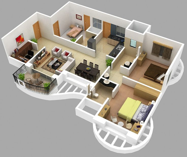 724 best sweet home images on Pinterest Floor plans, Small houses - Plan Maison Sweet Home 3d