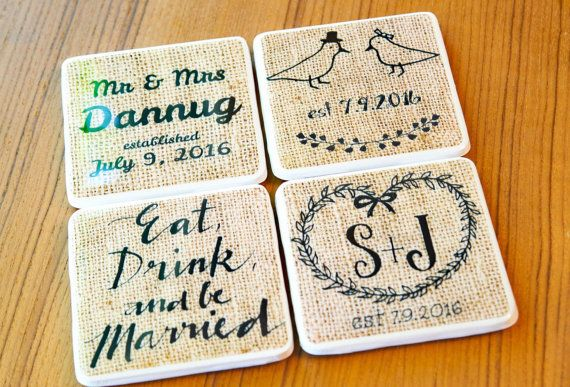 Personalized Coasters Wedding Gift: 25+ Best Ideas About Wedding Coasters On Pinterest