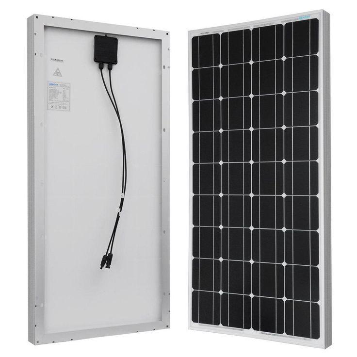 100-Watt 12-Volt Monocrystalline Solar Panel for RV, Boat, Back-Up System, Off-Grid Application