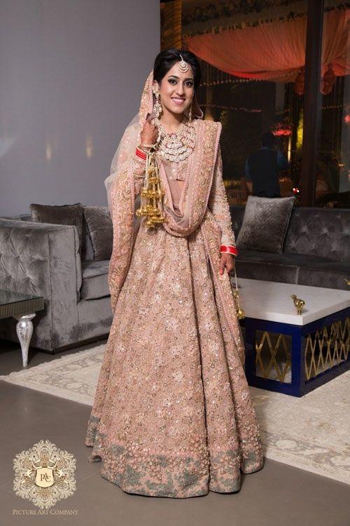 Bridal Lehengas - Powder pink Sabyasachi lehenga | WedMeGood #wedmegood #indianbride