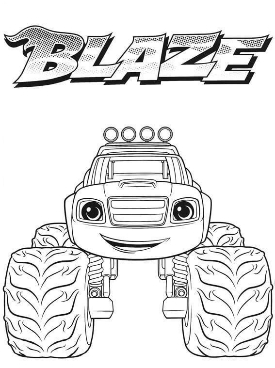 Blaze Monster Truck Coloring Sheet Warna Gambar