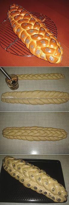Хала: способы плетения - Страница 2 (ХАЛА ДВУХЯРУСНАЯ - 3+5) : Хлеб, батоны…